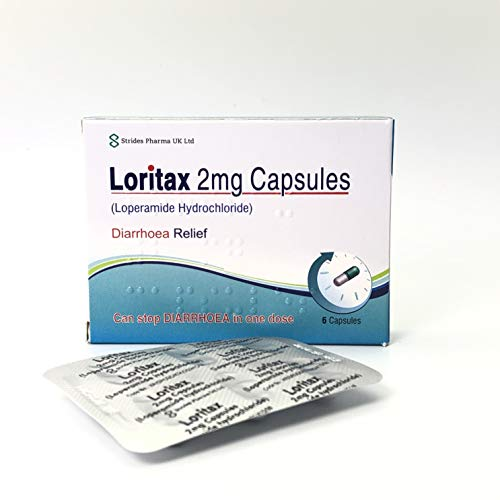 36 Diarrhoea Relief 2mg Capsules Loperamide Hydrochloride Tablets (6x6) from Loritax