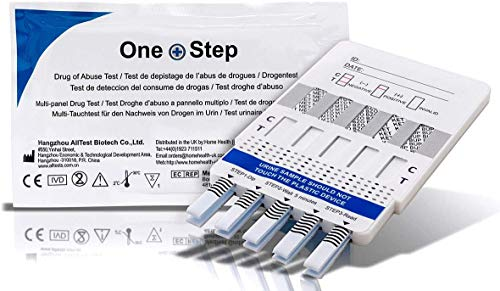 Home Health UK Ltd 5 x Drug Test Kits Urine 10 in 1 Panel Kit - Tests for Heroin, Opiates, Cannabis, Cocaine, Speed and more from Home Health UK Ltd