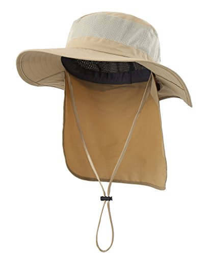 adfb0e0f3ca8bf Home Prefer Mens Fishing Hat with Neck Protection UPF 50+ Sun Bucket Hat  for Outdoor
