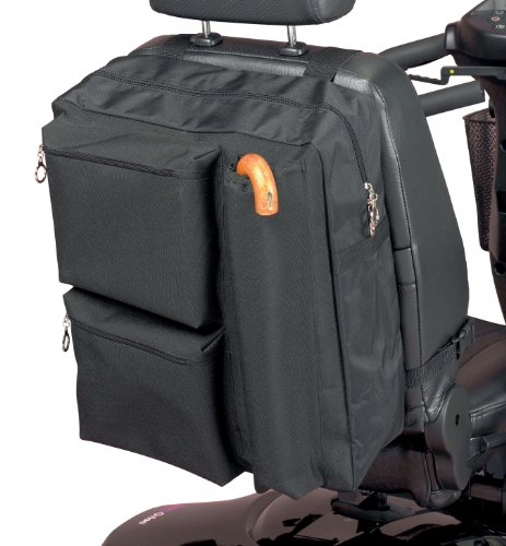 Homecraft Deluxe Scooter Bag, Zipped Pockets for Padded Storage, High Quality Waterproof Polyester, Storage for Crutches & Walking Sticks, (Eligible for VAT relief in the UK) from Homecraft