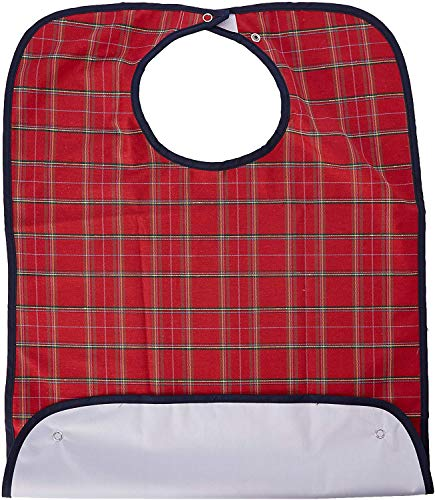 Homecraft Everyday Bib - Small, Red Tartan (Eligible for VAT relief in the UK) from Homecraft
