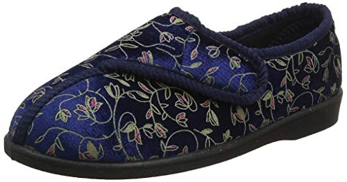 Homecraft Patterned Slippers for Ladies - Size 5, Blue from Homecraft