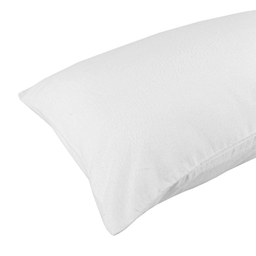 Homescapes 100% Cotton White Luxury Flannelette Housewife Pillowcase Pair, Brushed Cotton from Homescapes