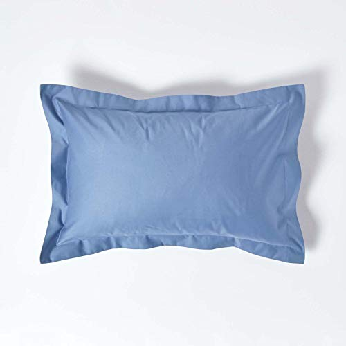 HOMESCAPES 1000 Thread Count Egyptian Cotton Blue Oxford Size Pillowcase Pillow Case from HOMESCAPES