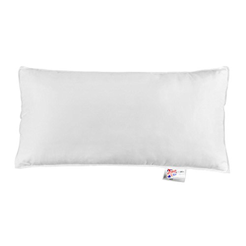 "HOMESCAPES Microfibre Euro Continental Pillow - 40cm x 80cm (16""x32"") Synthetic European Pillows Soft Support 100% Microfibre Casing from HOMESCAPES"