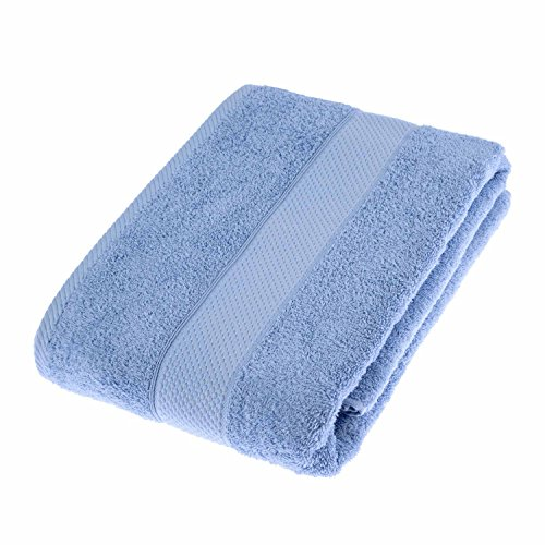 HOMESCAPES Turkish Cotton Bath Sheet Light Blue Very Soft and Absorbent, 500 GSM Heavy Weight Towel for everyday from HOMESCAPES