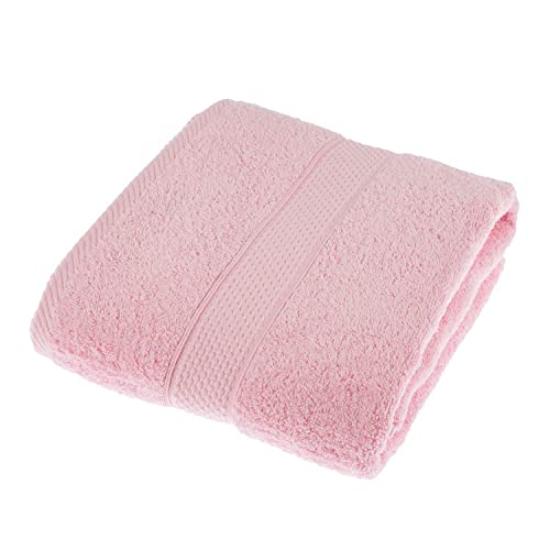 HOMESCAPES Turkish Cotton Bath Towel Pink Very Soft and Absorbent, 500 GSM Heavy Weight for everyday Luxury from HOMESCAPES