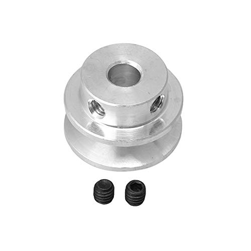 Homeswitch 22mm Dia 6mm Hole Dia Aluminum Alloy Single Step V-type Pulley for 3-5mm PU Round Belt DIY Drilling Accessory from Homeswitch