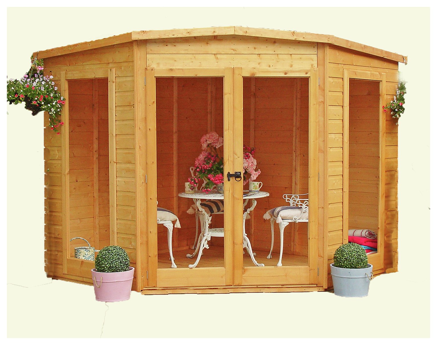 Homewood Barclay Wooden Summerhouse 7 x 7ft. at Argos from Homewood