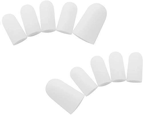 Homgaty 10 Piece Gel Toe Caps Cover Soft Protectors Prevent Blisters Corns Pain Relief from Homgaty
