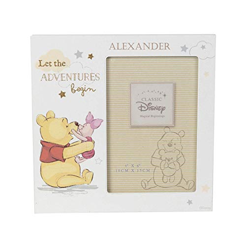 Personalised Engraved Disney Baby Photo Frame Disney Pooh Classic Gift from Hoolaroo