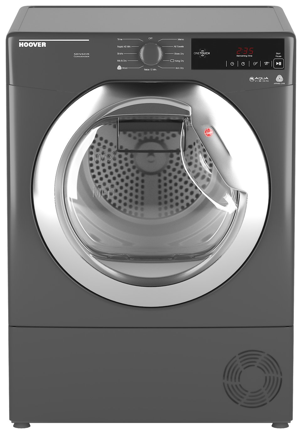 Hoover DX C8TCER 8KG Condenser Tumble Dryer - Graphite from Hoover