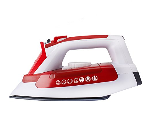 Hoover IRONjet Steam Iron, TIL2200, 2200W, Ceramic Soleplate - White/Red from Hoover