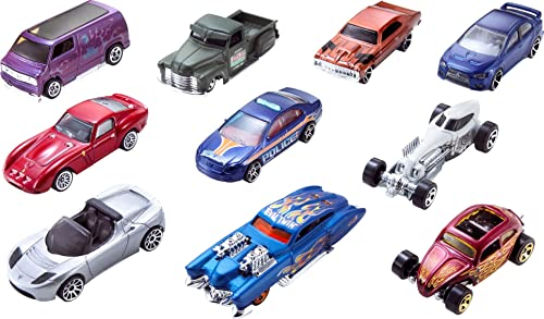 Hot Wheels 154213 Cars, Multi-Colour, Count 10 from Hot Wheels