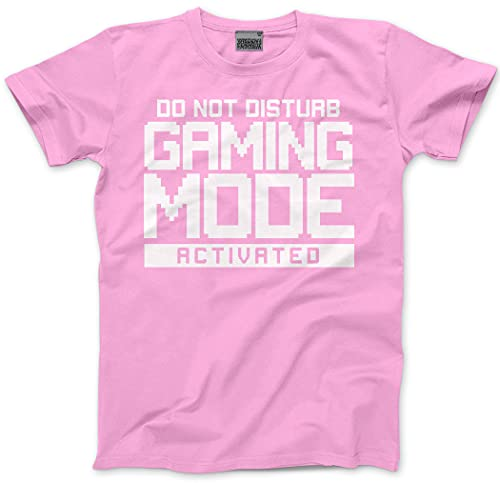 HotScamp Do Not Disturb Gaming Mode Activated - Kids T-Shirt - Gamer Console cod - Age 12/13-36'' Pink from HotScamp