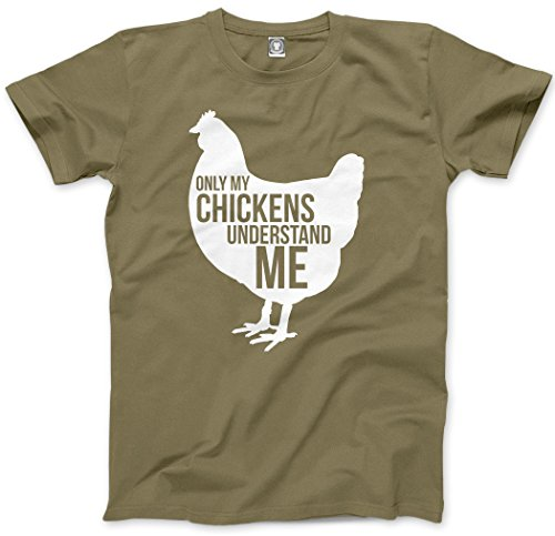 Only My Chickens Understand Me - Mens Unisex T-Shirt - gift for farmer pet chicken chicken accessories chicken coop chicken coop accessories - L khaki from HotScamp
