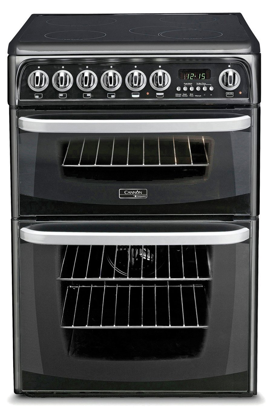 Hotpoint CH60EKKS Electric Cooker - Black from Hotpoint