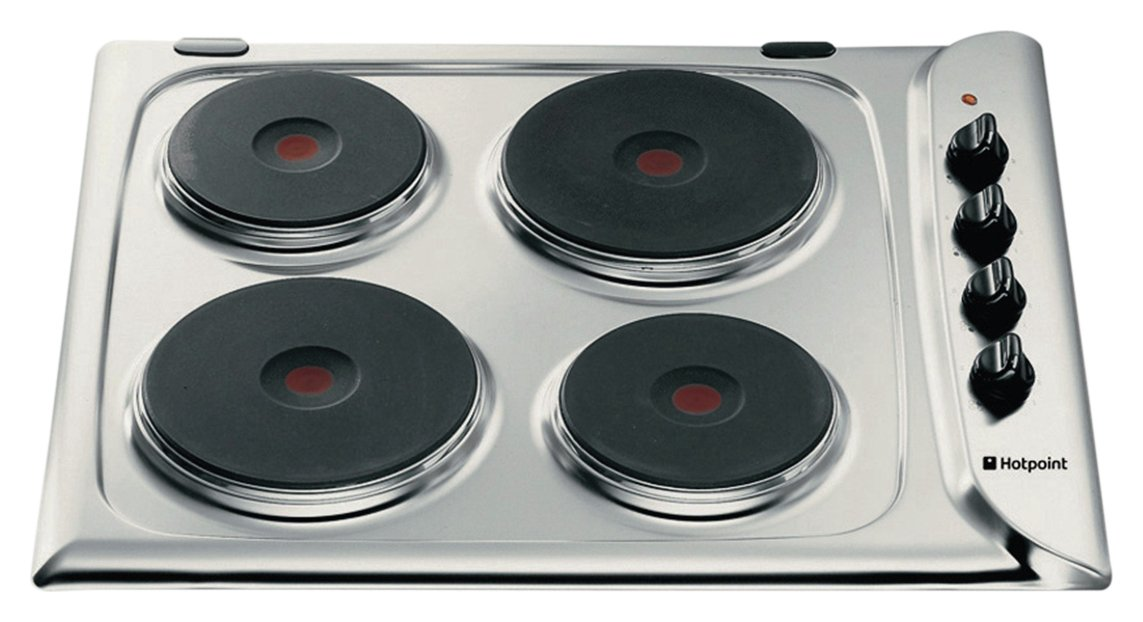 Hotpoint E604X Electric Solid Plate Hob - Stainless Steel from Hotpoint