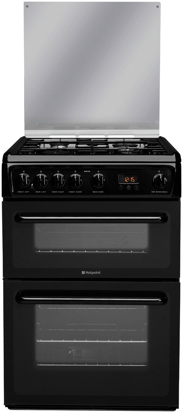 Hotpoint HAGL60K 60cm Double Oven Gas Cooker - Black from Hotpoint