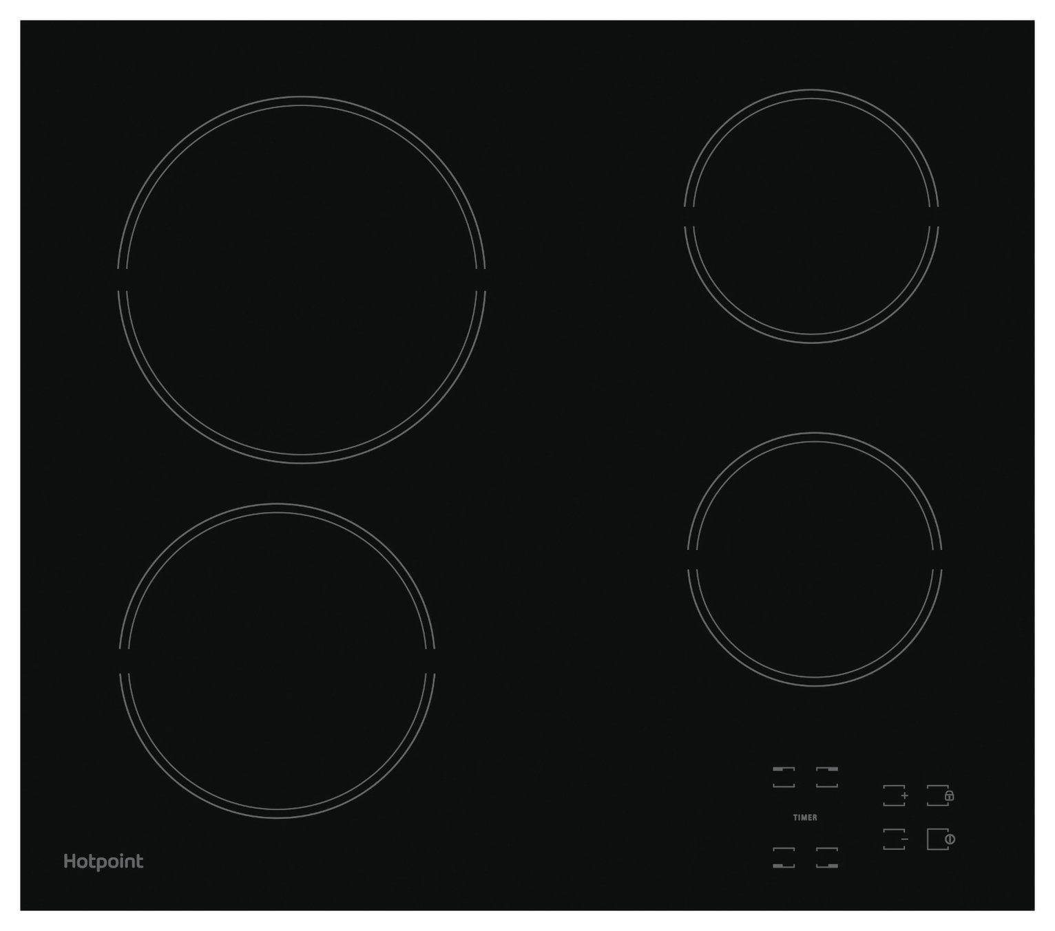 Hotpoint HR651CH Ceramic Hob - Black. from Hotpoint