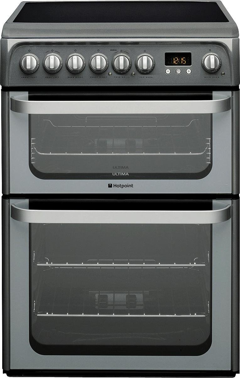 Hotpoint HUE61G Double Electric Cooker - Graphite -100L from Hotpoint