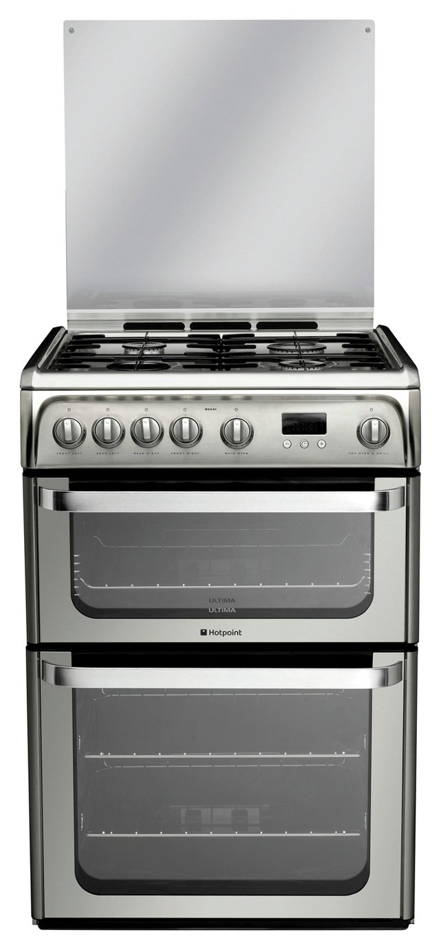 Hotpoint Ultima HUG61X Double Gas Cooker - Stainless Steel from Hotpoint