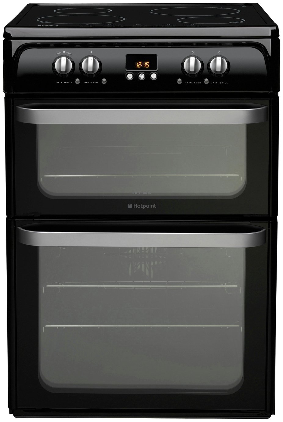 Hotpoint Ultima HUI614 K Freestanding Cooker - Black + Installation from Hotpoint