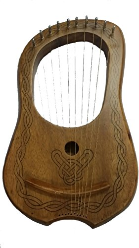 Lyre Harp 10 Metal Strings Rosewood/Lyra Harp Rosewood 10 Strings Free Case from House Of Scotland