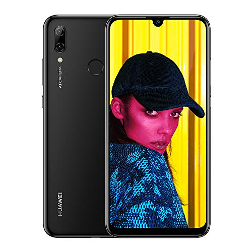 Huawei P Smart 2019 64 GB 6.21-Inch 2K FullView Dewdrop SIM-Free Smartphone with Dual AI Camera, Android 9.0, Single SIM, UK Version - Black from HUAWEI
