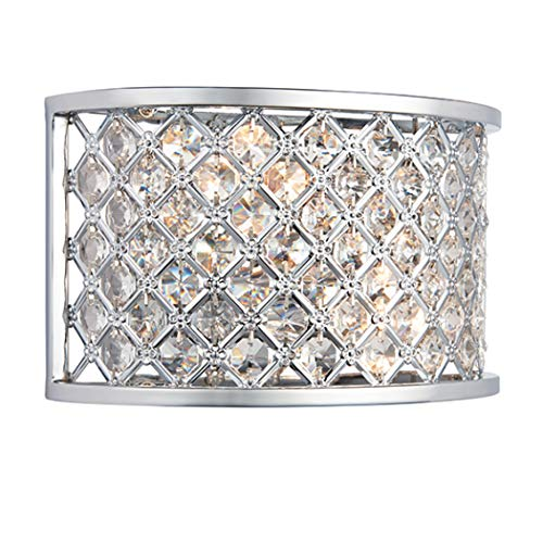 Endon 2 LIGHT WALL BRACKET IN CHROME WITH CRYSTAL BEADS from Endon