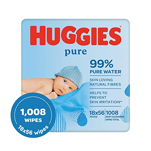 Huggies Pure Baby Wipes, 18 Packs (1008 Wipes Total) from Huggies