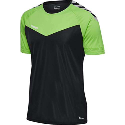 hummel Men's COURT NEW SS Shirt, Green Lime, S from hummel