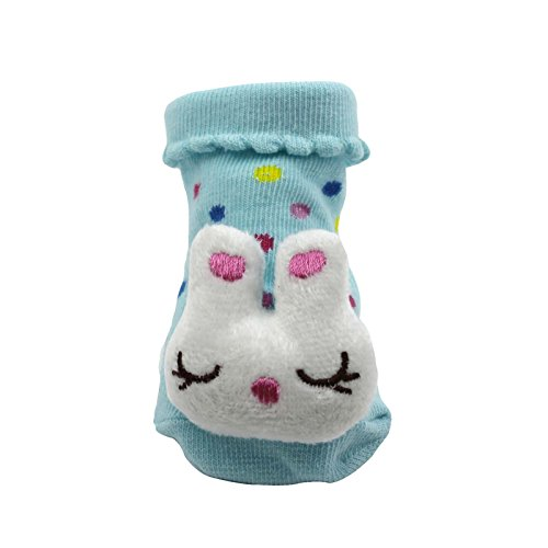 HuntGold Cute Baby Kid Toddler Newborn 3D Cartoon Short Sock Slipper Shoe  Children Bootierabbit