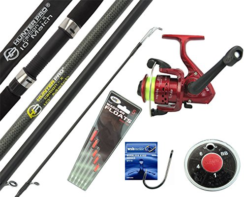 Hunter Pro® 10' Carbon-X Complete Beginners Starter Float Match Fishing Kit Rod & SY200 Reel With Line & Tackle Set from Hunter Pro