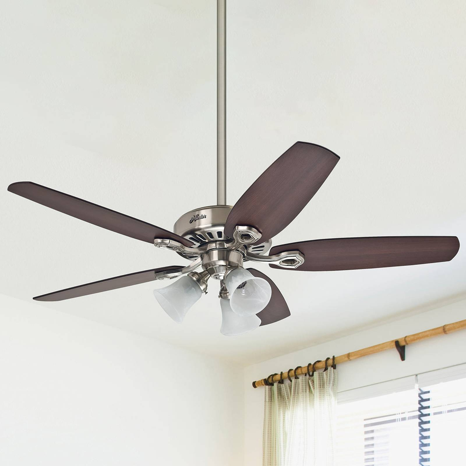 Hunter Builder Plus ceiling fan, reversible blades from Hunter