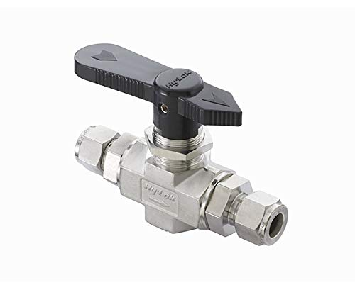 Hy-Lok B2VF-4NYDVSOGS316 2-Way Straight Shut-Off Ball Valve, Downstream Vent from Hy-Lok