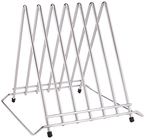 Hygiplas Six Slot Chopping Board Rack Stainless Steel Cutting Kitchen Restaurant from Hygiplas