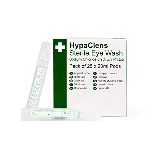 Hypaclens Emergency Sterile Eyewash Pods - 20ml (Pack of 25) from Safety First Aid Group