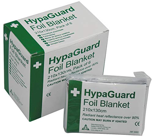HypaGuard Foil Survival Blanket (Pack of 6) from Safety First Aid Group