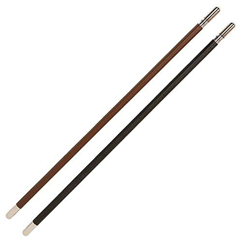 Hy School Leather Show Cane With Silver Caps Brown from Y-H