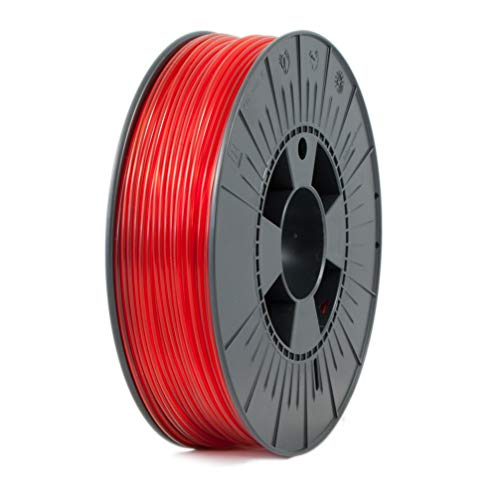 ICE FILAMENTS ICEFIL3PET177 PET Filament, 2.85 mm, 0.75 kg, Transparent Romantic Red from ICE FILAMENTS