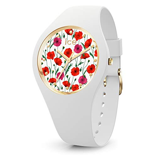 aa5a43b2681be Ice-Watch - Ice Flower White Poppy - Women's Wristwatch with Silicon Strap  - 016665