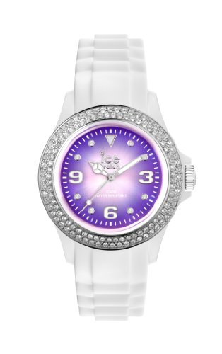 Ice-Watch Women's Quartz Watch with Purple Dial Analogue Display and White Silicone Strap IPE.ST.WSH.U.S.12 from ICE-Watch