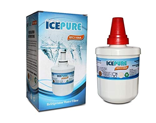 Samsung AquaPure DA2900003G Plus Compatible Water Filter Refrigerator RFC1100A from ICEPURE