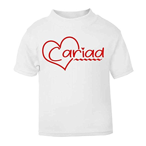 Cariad Welsh T-Shirt Kids Top Children's T-Shirt Baby Top St. Davids Day Outfit Wales Funny Welsh Gifts (1-2 Years, White) from ICKLE PEANUT