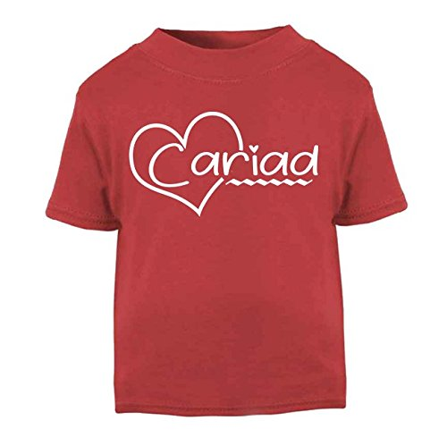 Cariad Welsh T-Shirt Kids Top Children's T-Shirt Baby Top St. Davids Day Outfit Wales Funny Welsh Gifts (3-6 Months, Red) from ICKLE PEANUT