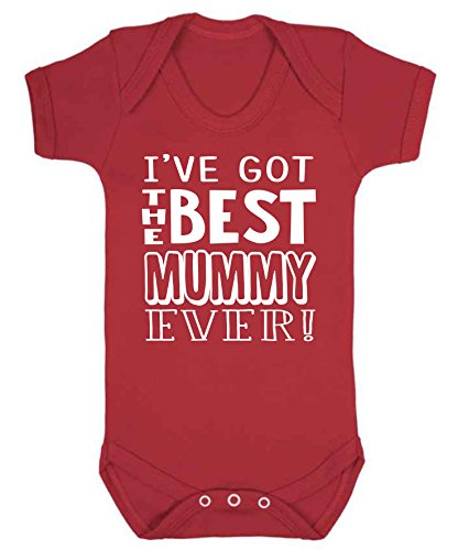 I've got The Best Mummy Ever Baby Vest Babygrow Bodysuit Baby Shower Gifts Mother's Day Red (3-6 Months) from ICKLE PEANUT