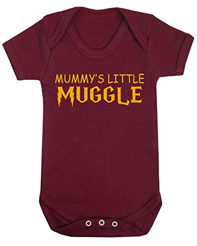 Mummy's Little Muggle Novelty Baby Vest Wizard Inspired Babygrow Novelty Baby Gifts Spell (0-3 Months) from ICKLE PEANUT