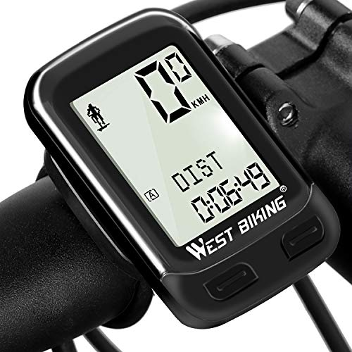 Bike Computer Wireless Waterproof Bicycle Odometer Speedometer Automatic Wake-up 22 Function Cycling Computer User A/B LCD Backlight 5 Language Displays Cycling Accessories Outdoor Exercise Tool from ICOCOPRO