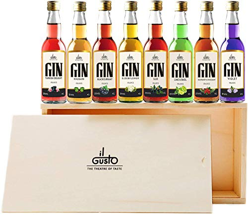 Miniature Gin Gift Set 40 ml (Pack of 8) from IL GUSTO SPIRITS LTD